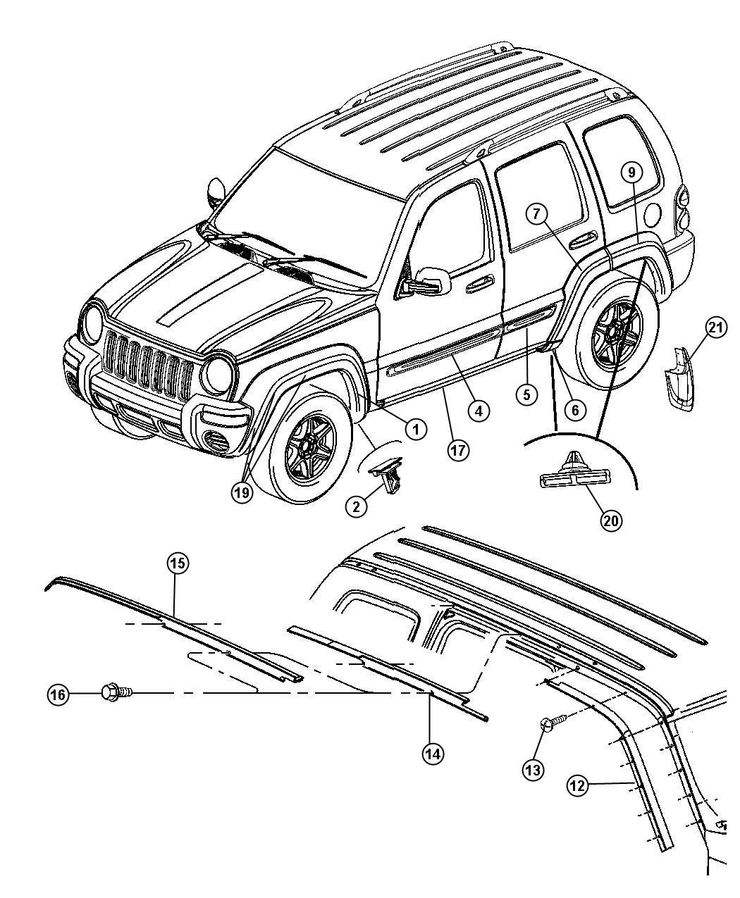 2004 Jeep Liberty Engine Diagram