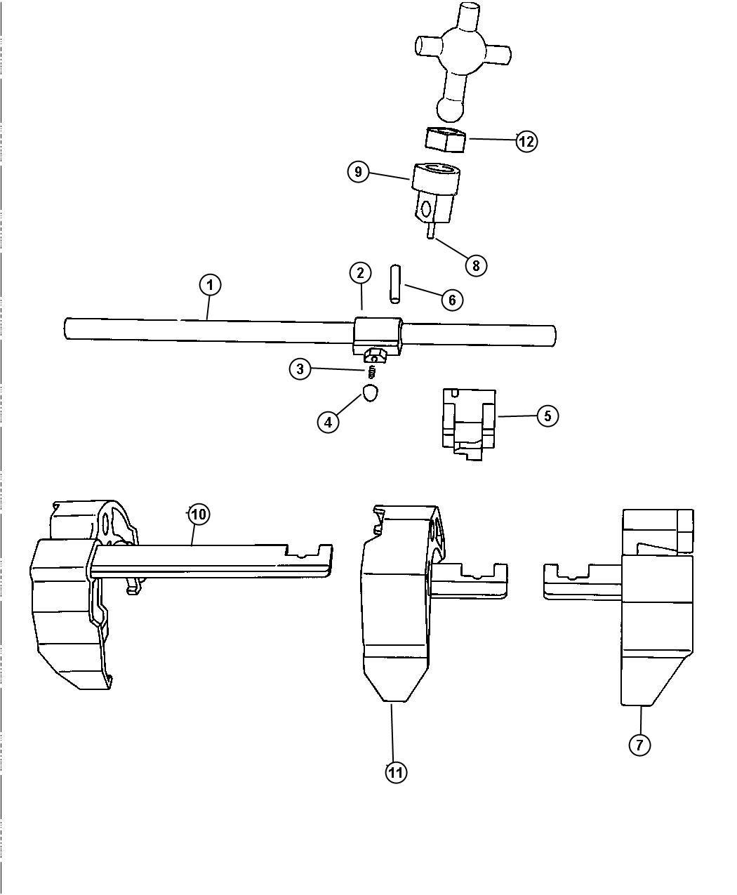 Jeep Wrangler Isolator. Shift lever. Fork, transmission