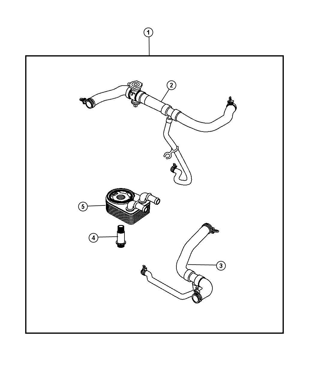 Jeep Patriot Hose. Radiator inlet. Engine, cooler, oil