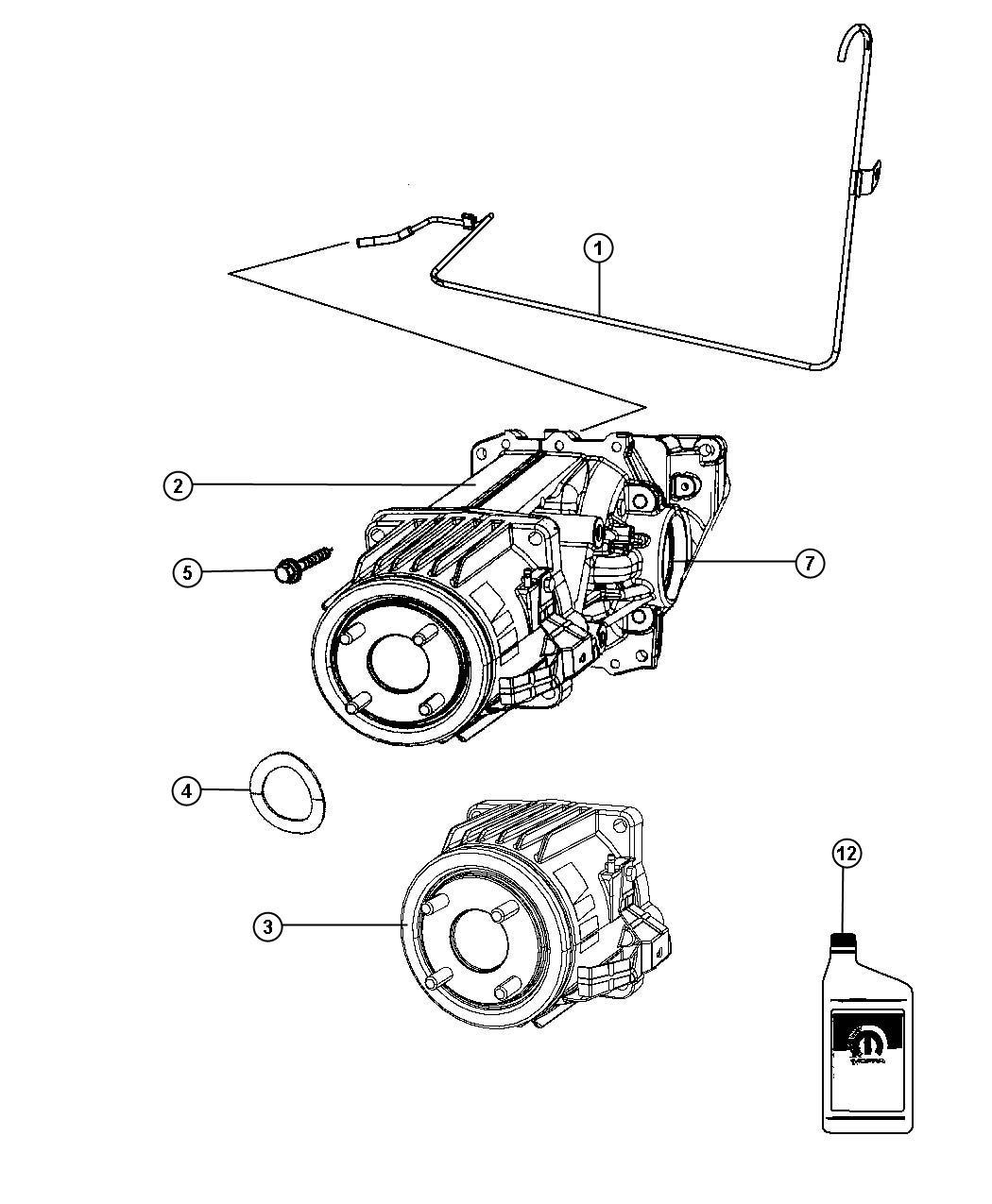 Jeep Patriot Differential Rear Axle Daw Suspension