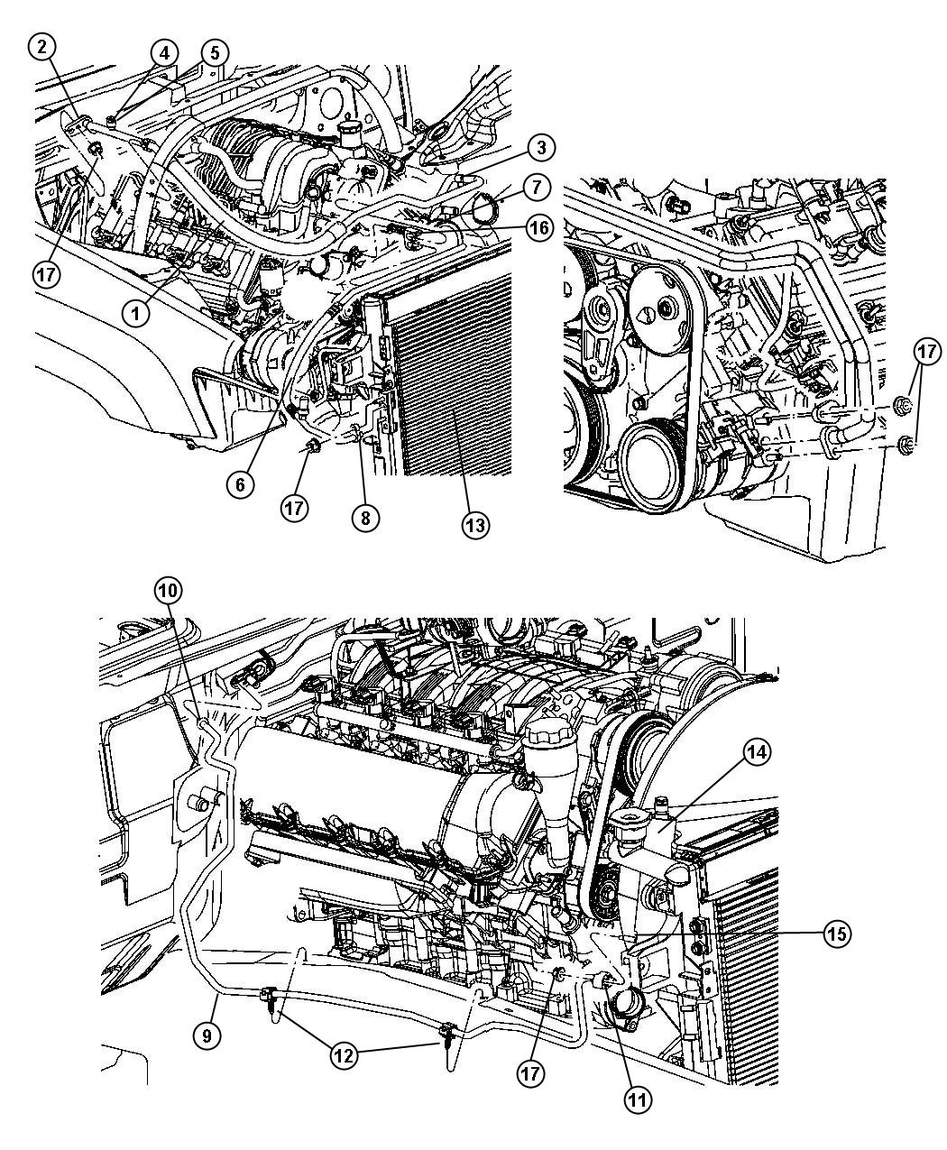 Jeep Grand Cherokee Line A C Liquid Plumbing Engine