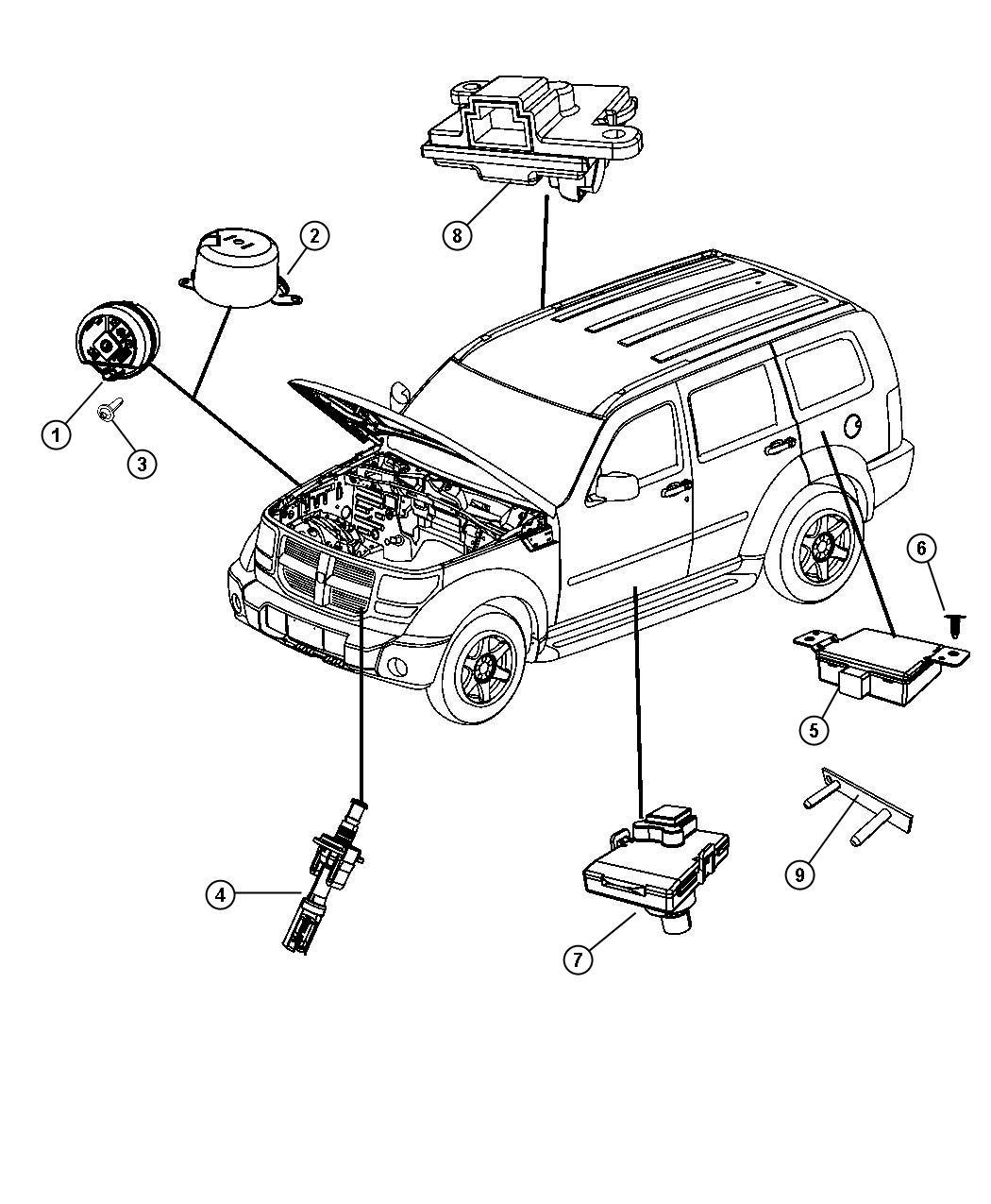 Jeep Liberty Switch Remote Starter Underhood Canada Us