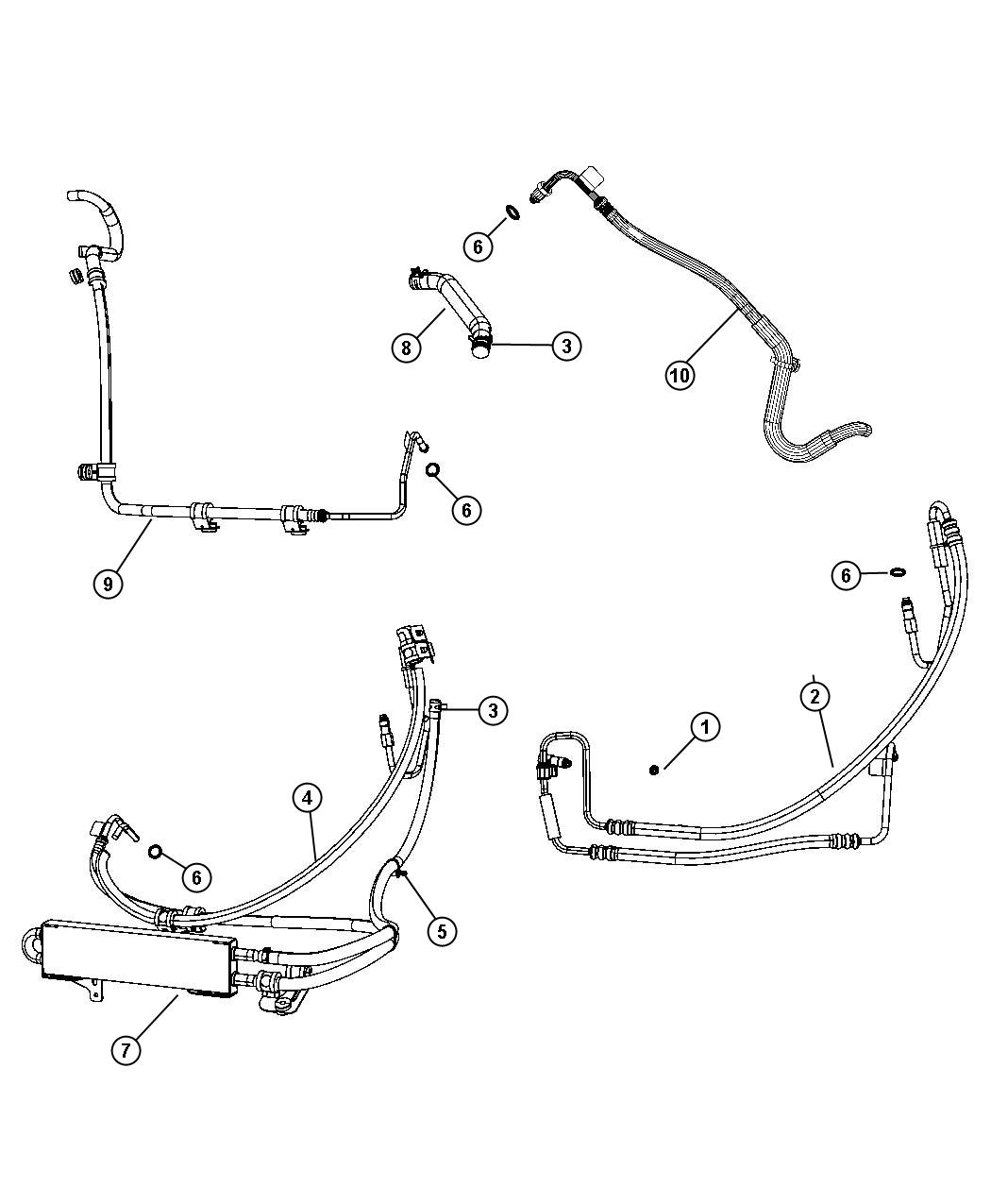 Jeep Liberty Hose Power Steering Return Gear To