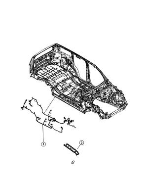 68056748AD  Jeep Wiring Body Touch, tire, subwoofer | Jeep Parts Overstock, Atlanta GA