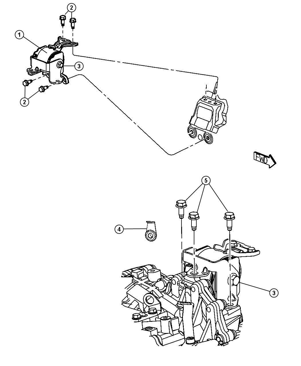 Jeep Patriot Bolt, screw. Hex flange head. M12x1.50x110.00