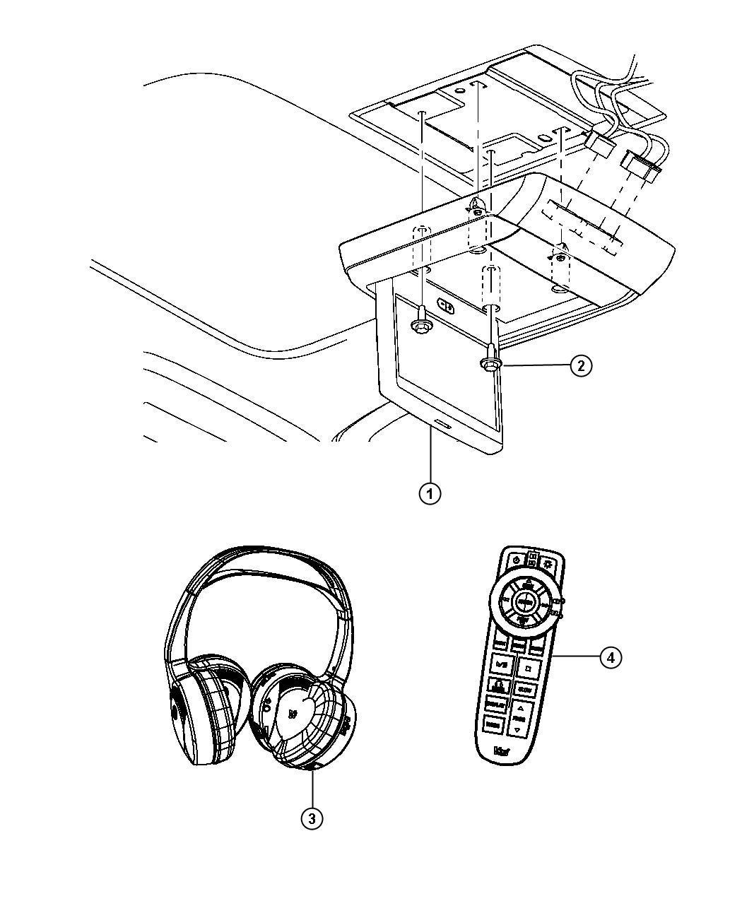 Jeep Patriot Headphones. Wireless. Expmedia, rft, reda