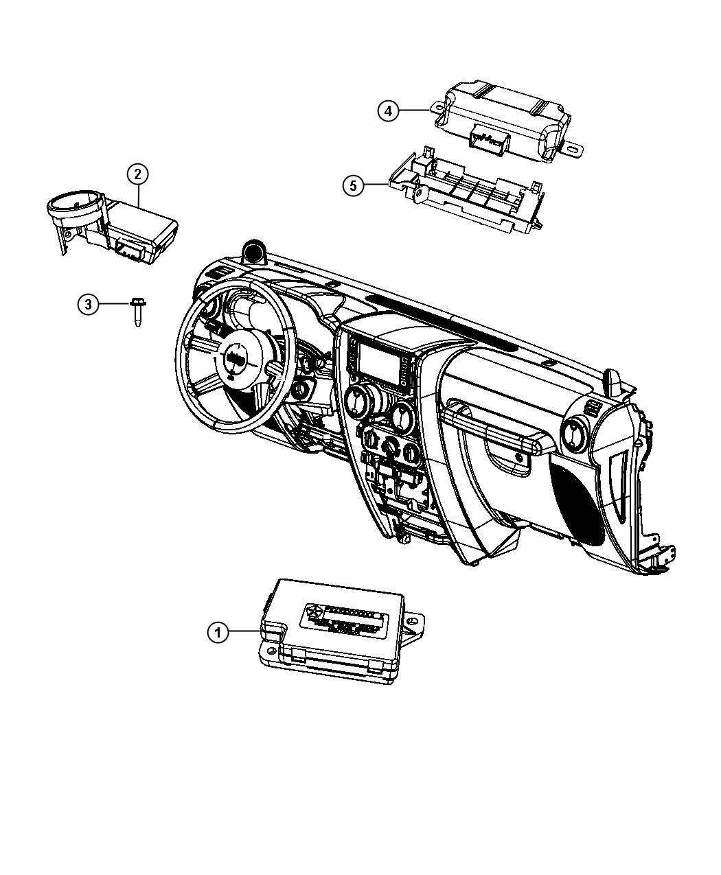 Jeep Wrangler Module Voltage Converter Instrument
