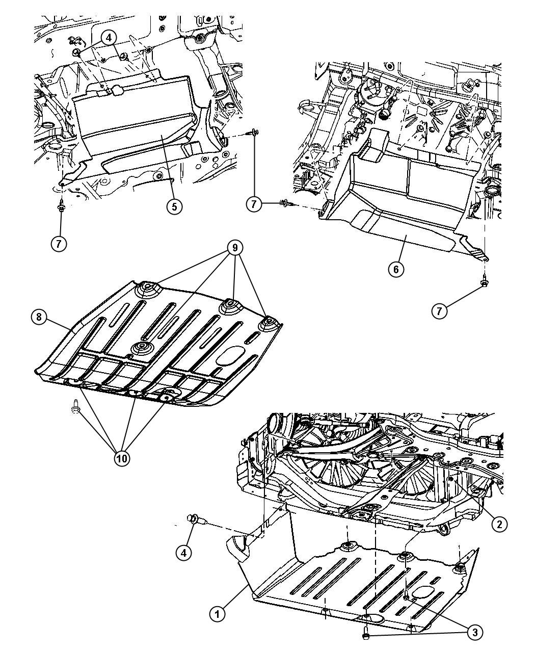 Jeep Patriot Belly pan. Front. [2.2l i4 single td om651