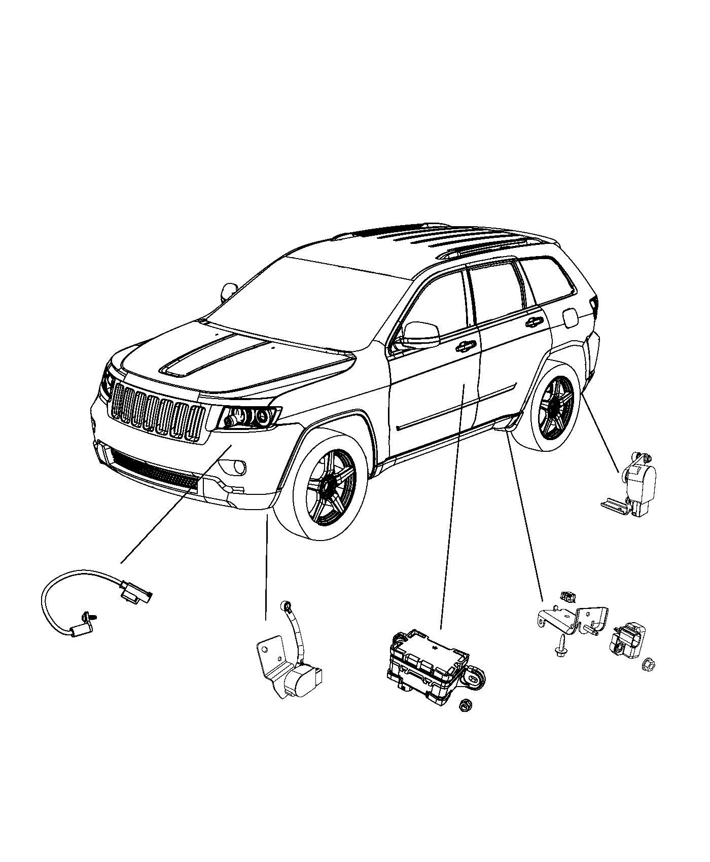 2014 Jeep Grand Cherokee Temperature sensor. Compressor