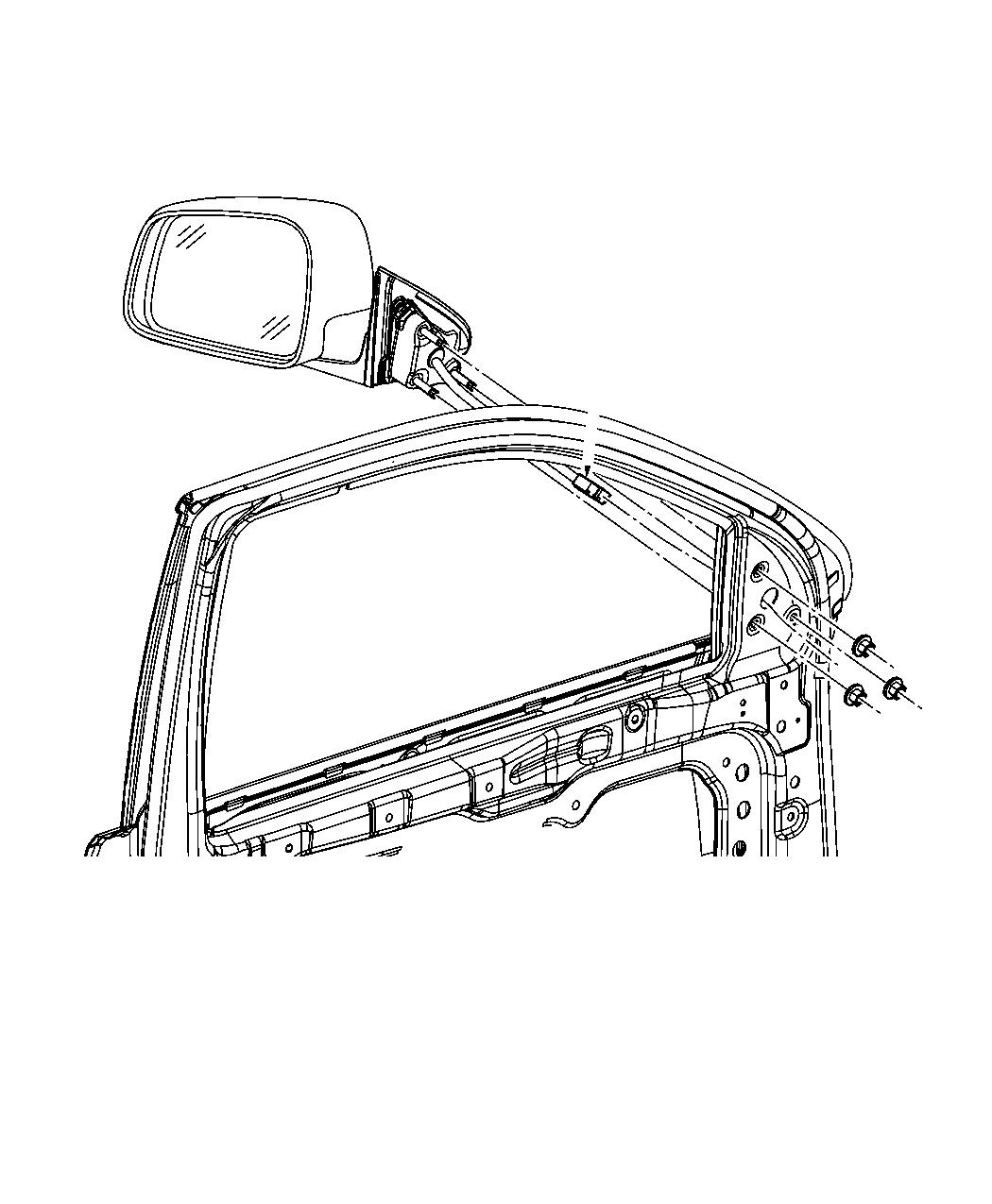 Jeep Grand Cherokee Mirror. Outside rearview. Right