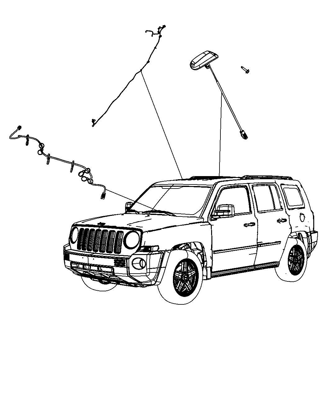 Jeep Compass Antenna Module Satellite Navam Rhp