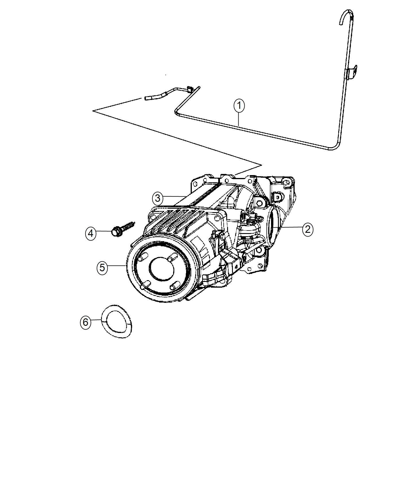 2017 Jeep Patriot Coupling. Electric clutch. Dav, rear
