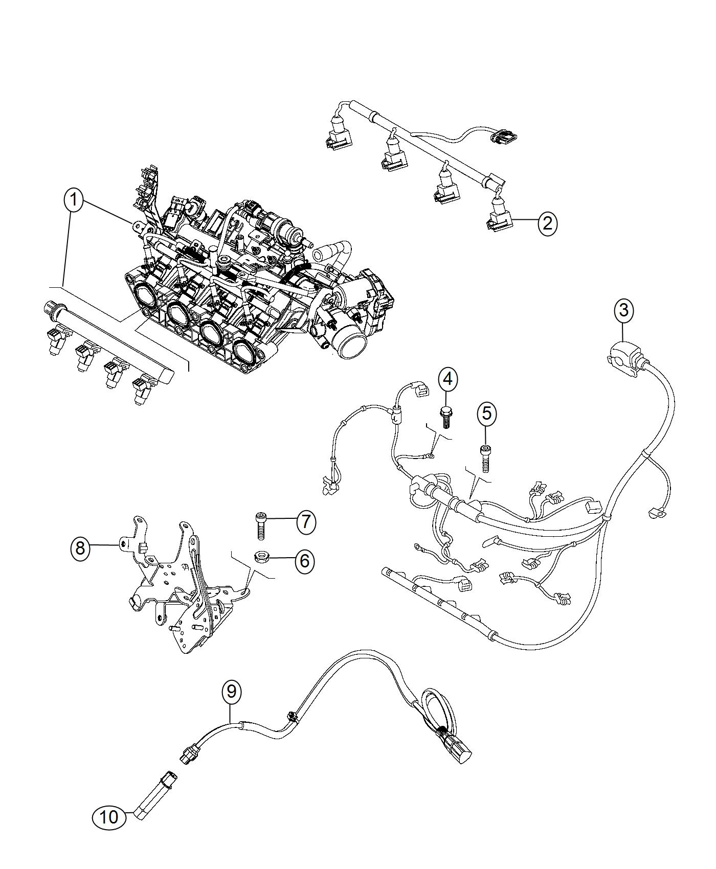 2017 Jeep Renegade Wiring. Jumper. Transmission. Export