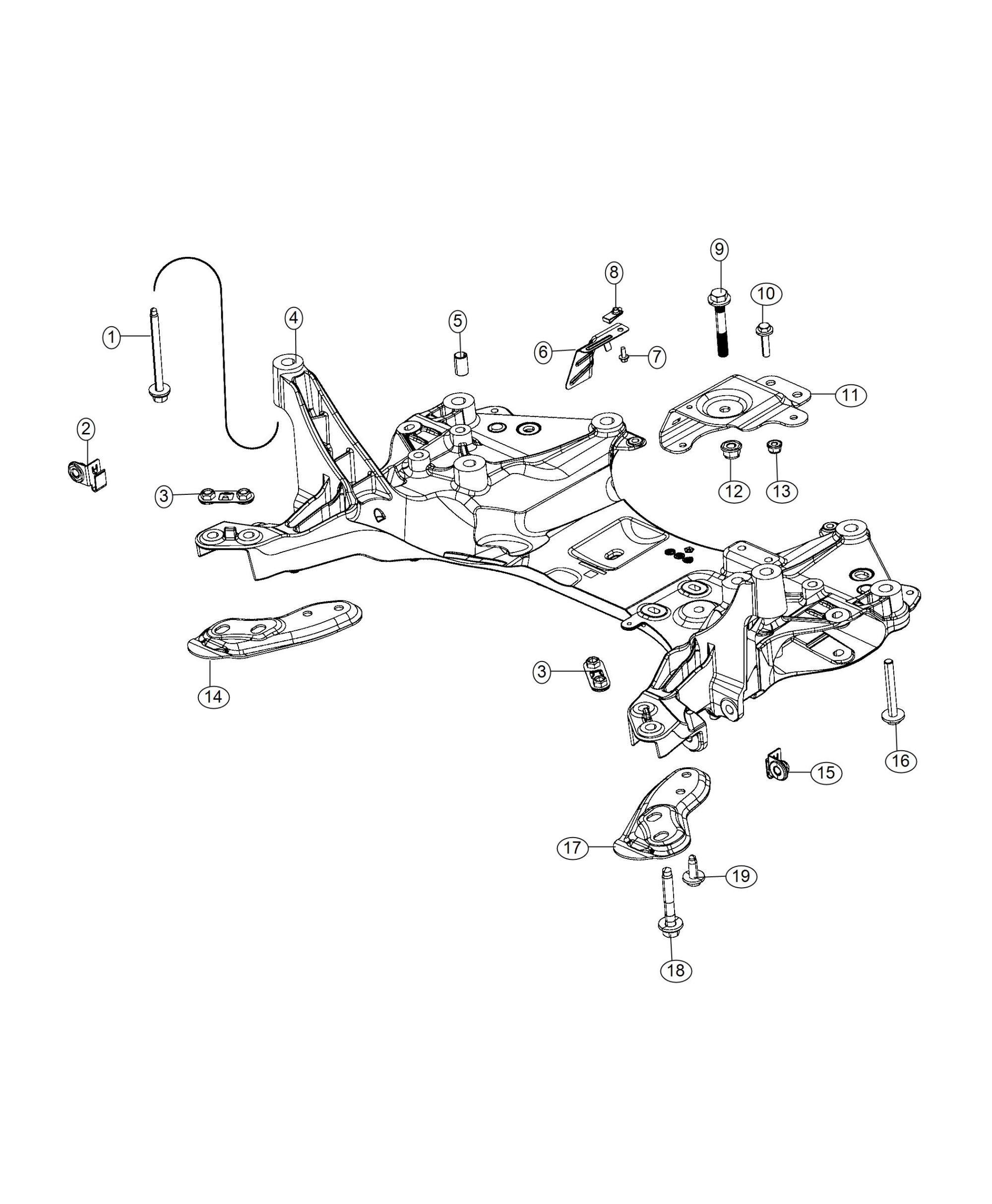 hight resolution of front crossmember suspension cj5 suspension diagram 68145920aa jeep dowel front suspension