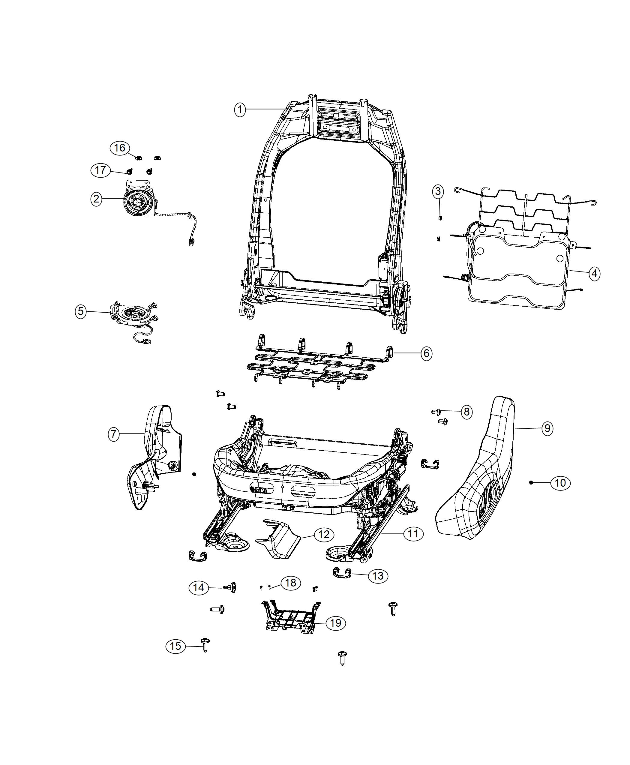 2019 Jeep Compass Bracket. Module. Trim: [lux leather
