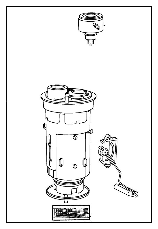 Jeep Cherokee Sensr pkg. Fuel pump/level unit. Mopar