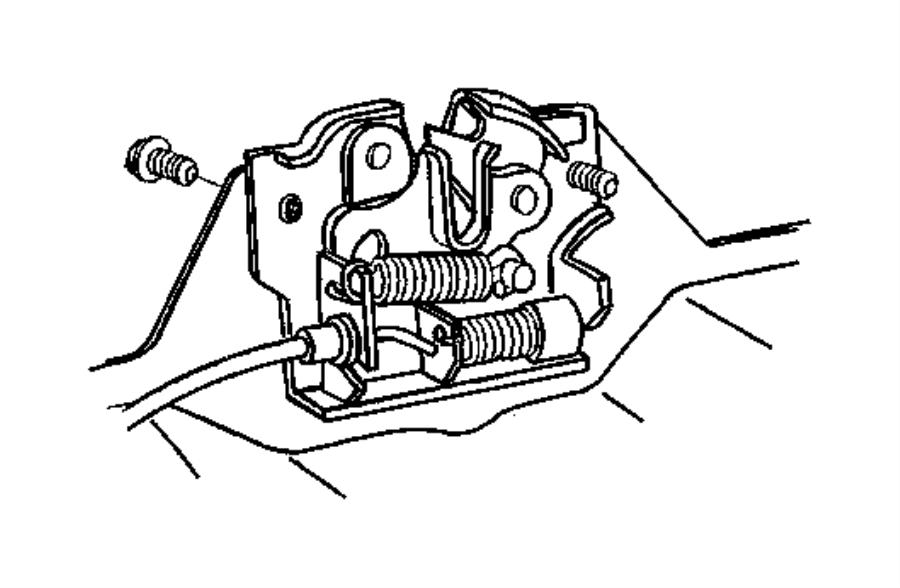 Jeep Wrangler Clip. Prop rod. Plastic. Catches