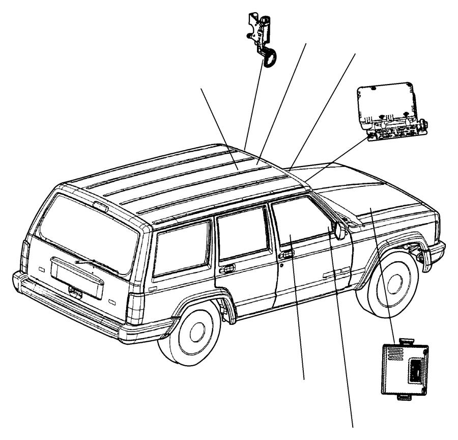 1986 Jeep Cherokee Module. Headlamp delay. Trim: [all trim
