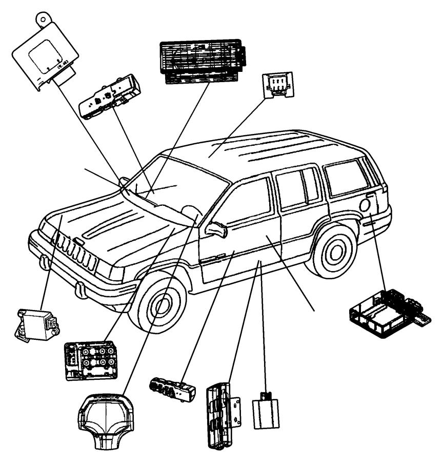Jeep Grand Cherokee Switch. Door module. Trim: [all trim