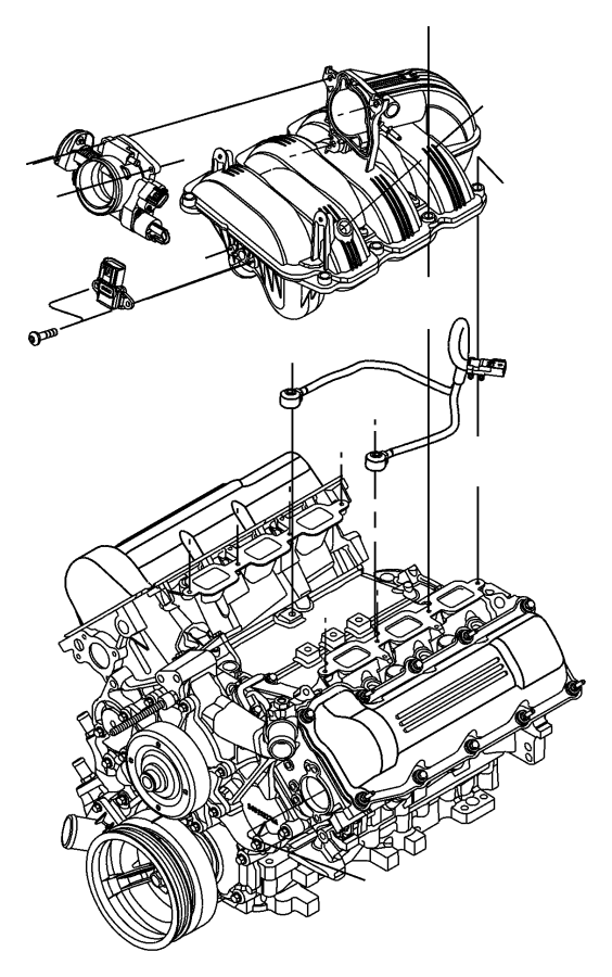 2006 Jeep Commander Gasket. Throttle body to intake