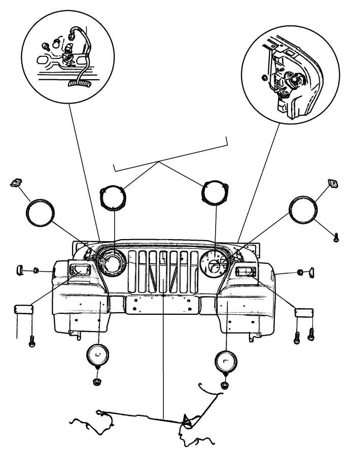 Jeep Wrangler Lamp. Fog. Lamps, export, equipment