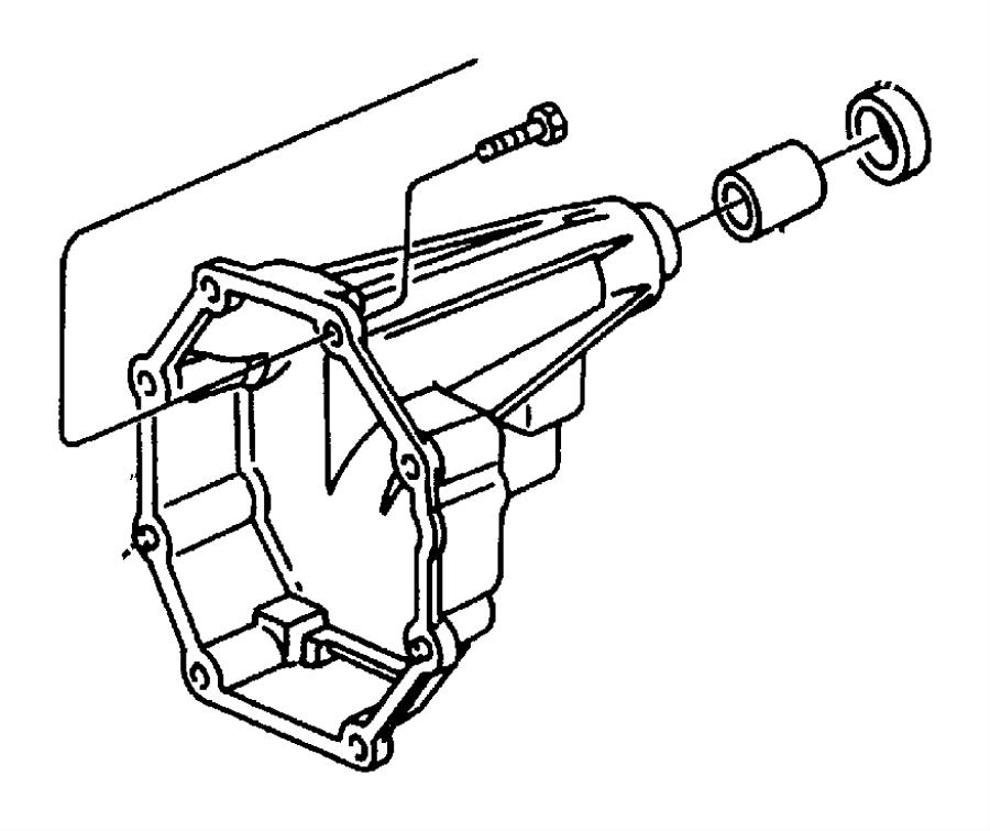 Jeep Grand Cherokee Seal. Output shaft. W/[52105027ac], w