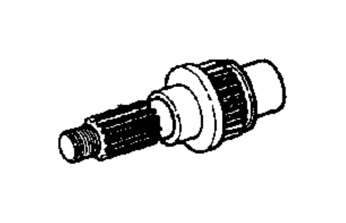 2005 Jeep Liberty Output shaft. Transfer case. Train, gear