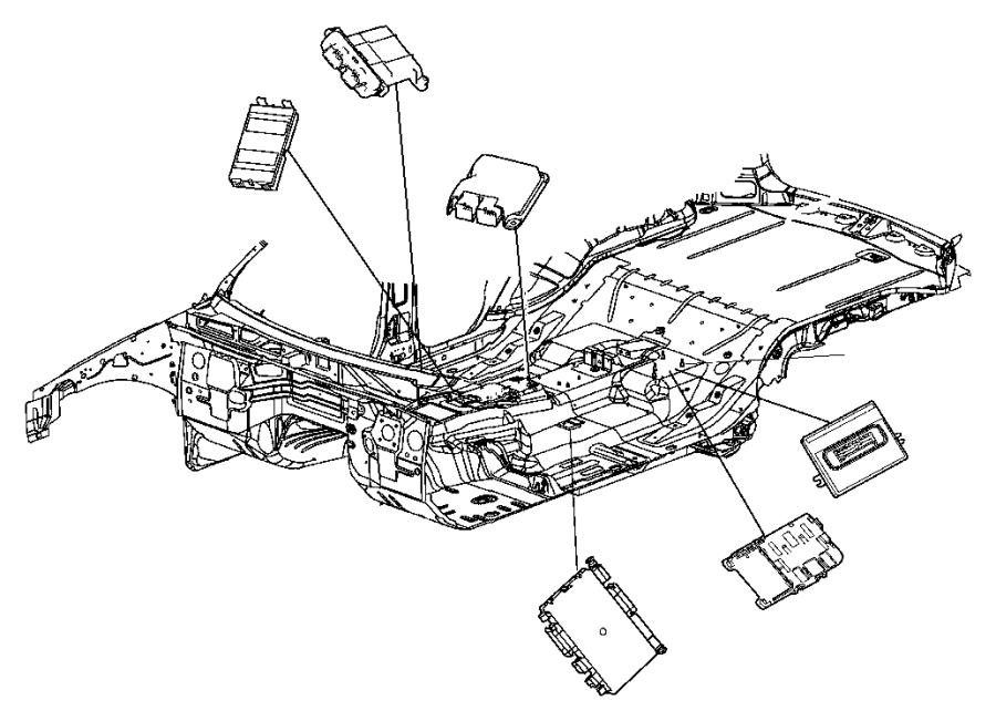 Jeep Commander Module. Parking assist. [parksense rear