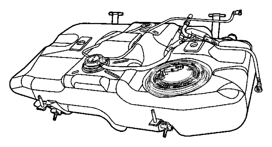 2011 Jeep Compass Tank. Fuel. [nf6], 13.5 gallon fuel tank