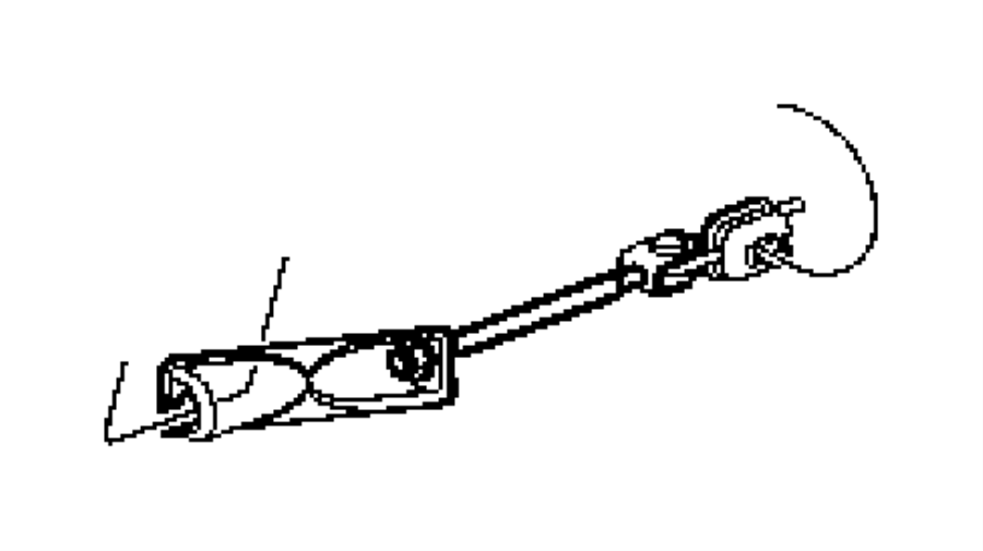 Jeep Cherokee Clip. Brake attaching tube, brake line. 3