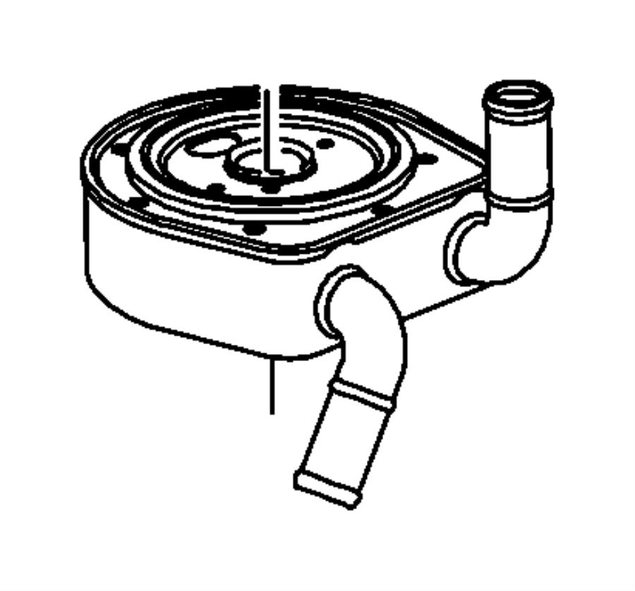 Jeep Patriot Cooler. Engine oil. Oiling, ohv, ffv