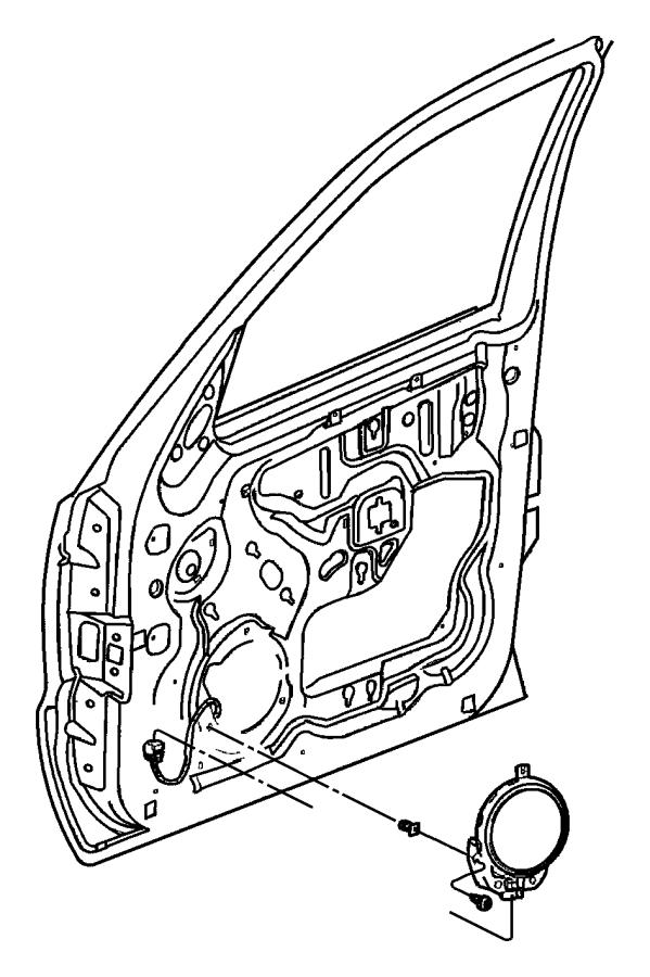 Jeep Liberty Speaker. 6.5. Front door. Speakers, six