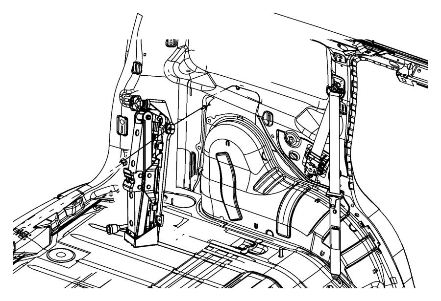 Jeep Liberty Stud. Weld. M6x1x25. Shield, floor, body