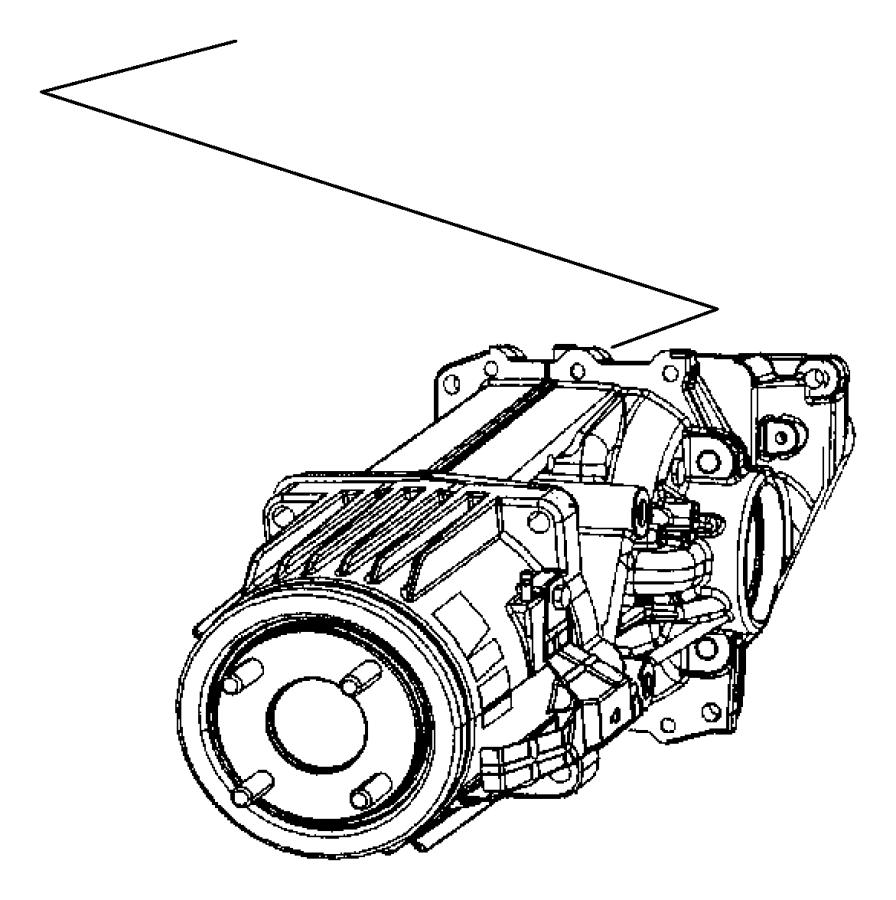 2014 Jeep Patriot Differential. Rear axle. Suspension