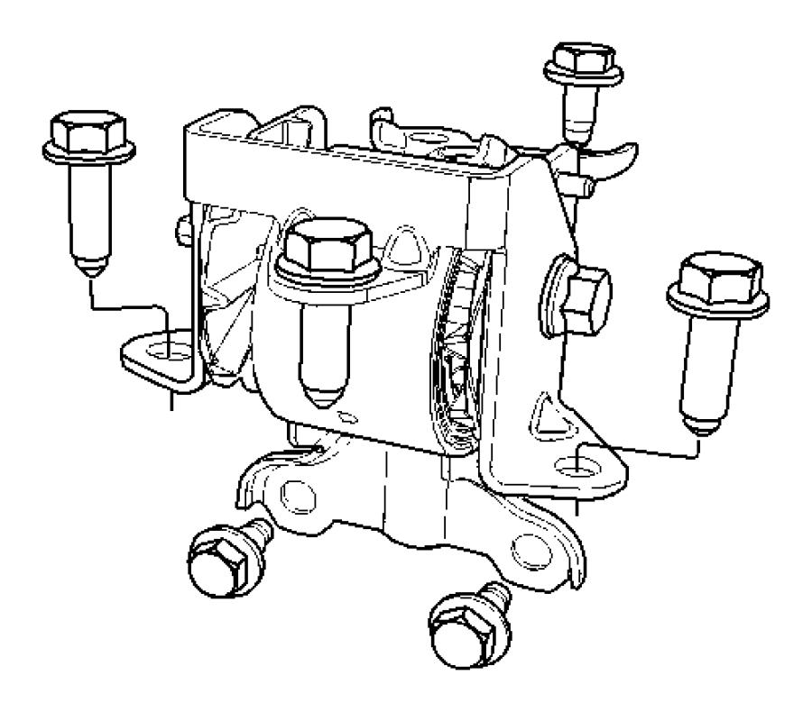 Jeep Patriot Insulator. Engine mount. Left, side, mounting
