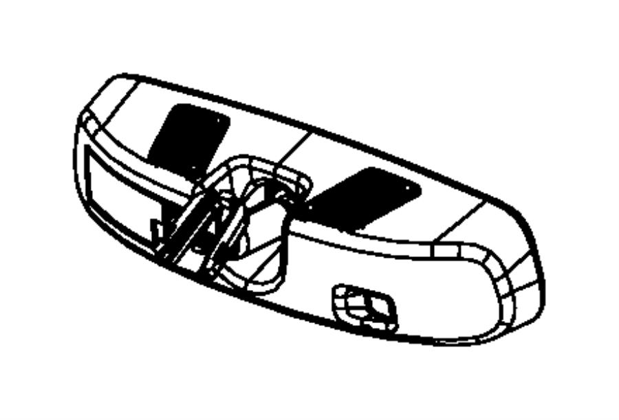 Jeep Patriot Mirror. Inside rear view. Dim, auto, uconnect