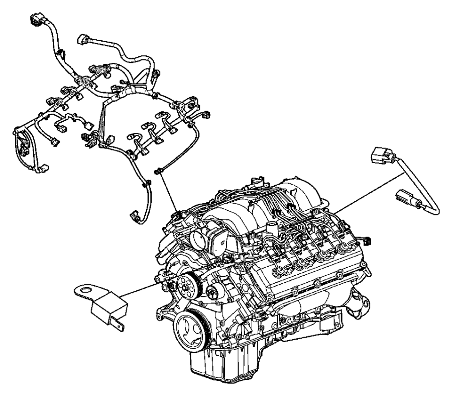 Jeep Grand Cherokee Wiring. Jumper. Multiple displacement