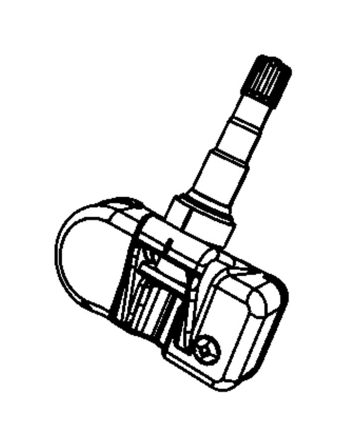 Jeep Liberty Sensor, sensor kit. Tire pressure. Export