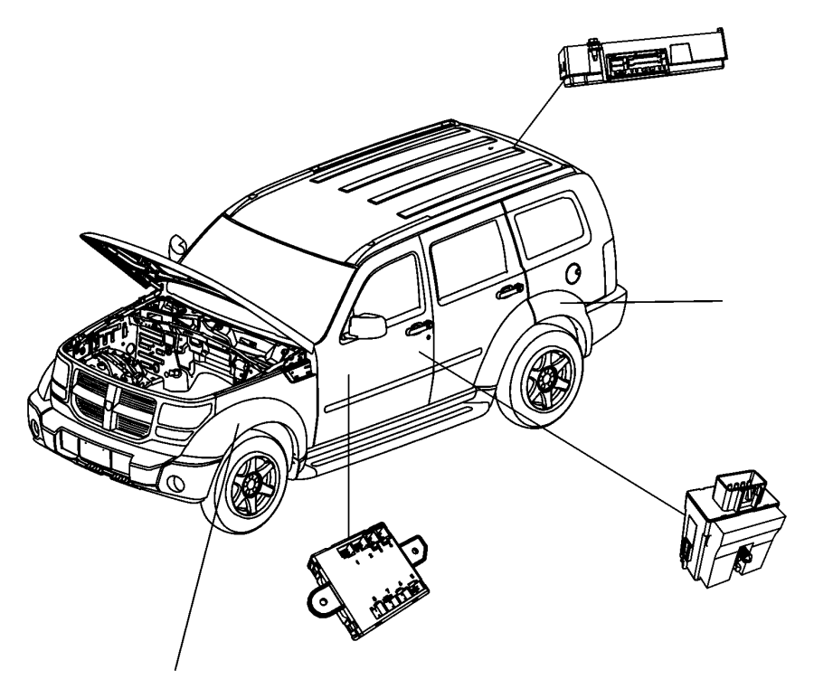Jeep Liberty Module. Telematics. Uconnect, hands, free
