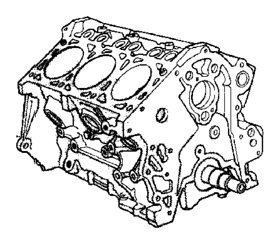 2008 Jeep Wrangler Engine. Short block. Cylinder, trans