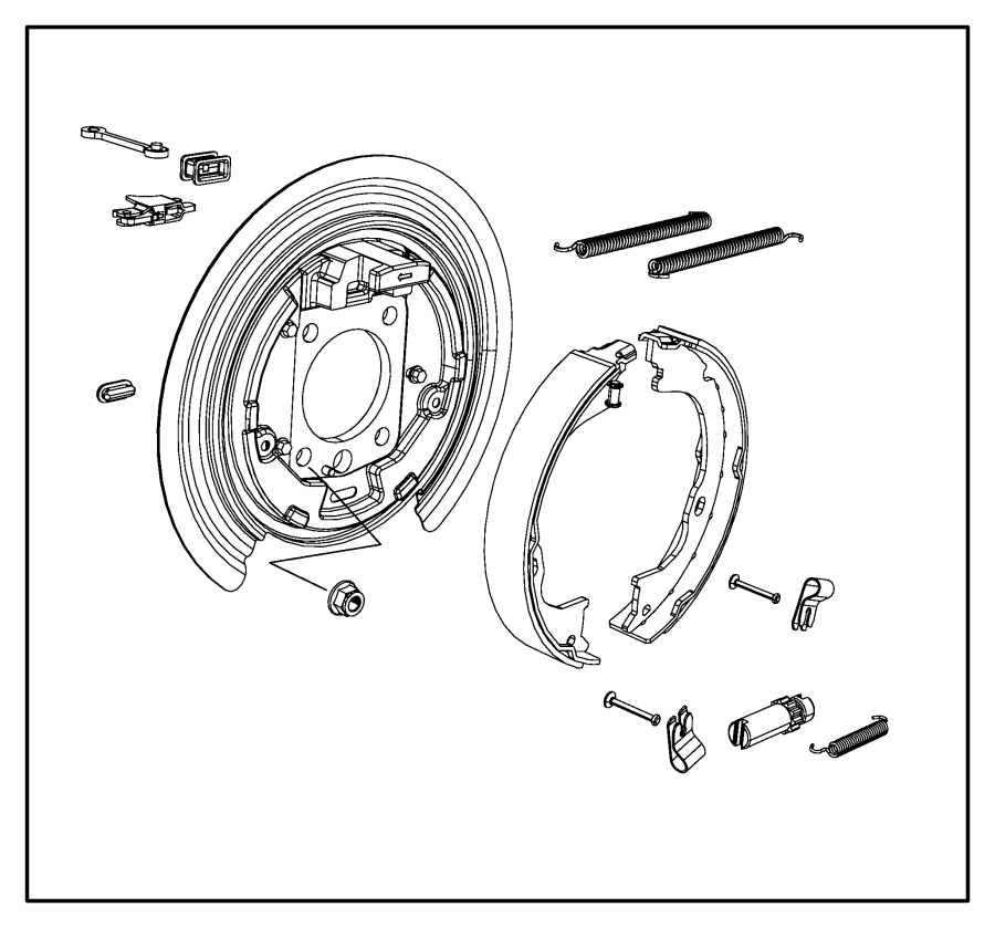 Jeep Liberty Adapter, adapter assembly. Parking brake