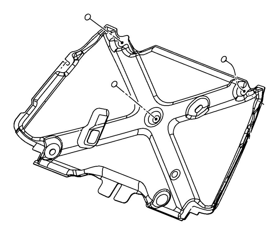 Jeep Wrangler Pad. Hood silencer. [hood insulation]. Scoop