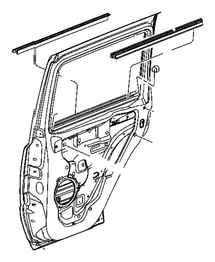 2007 Jeep Commander Weatherstrip. Rear door belt. Right