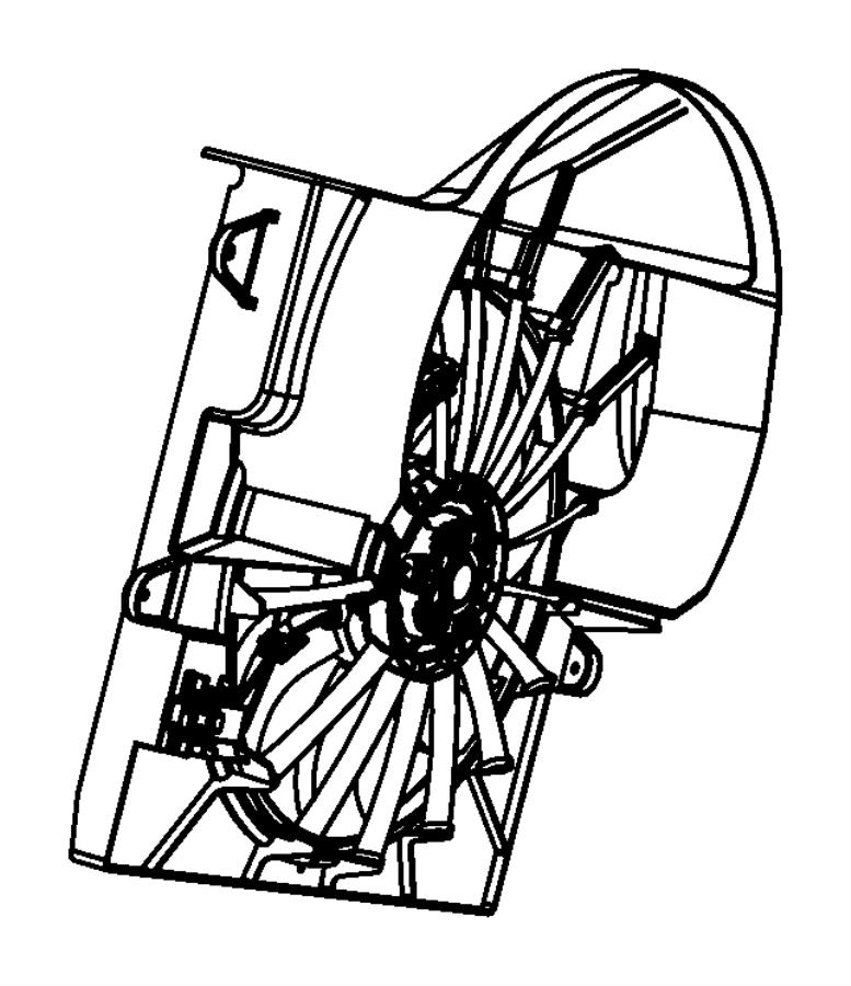 2009 Jeep Grand Cherokee Fan module, shroud module