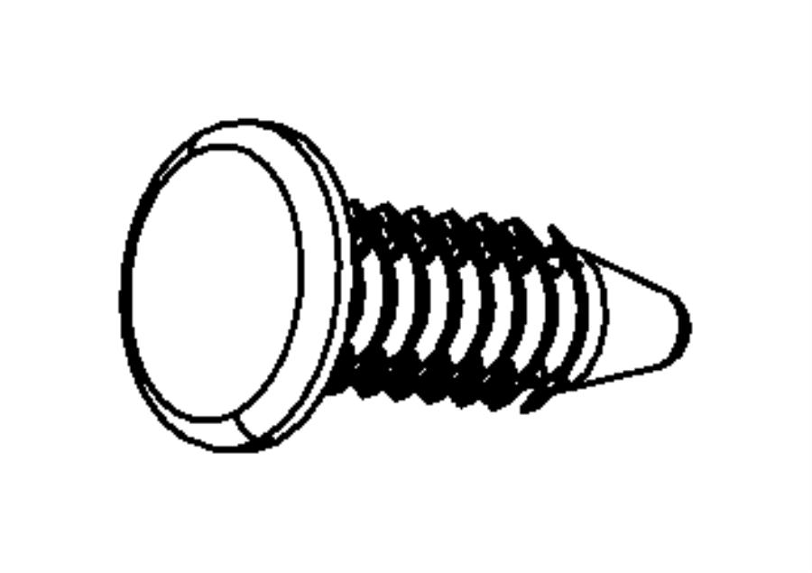 Jeep Wrangler Pin. Push. M6.3x19.84. Controlpolice