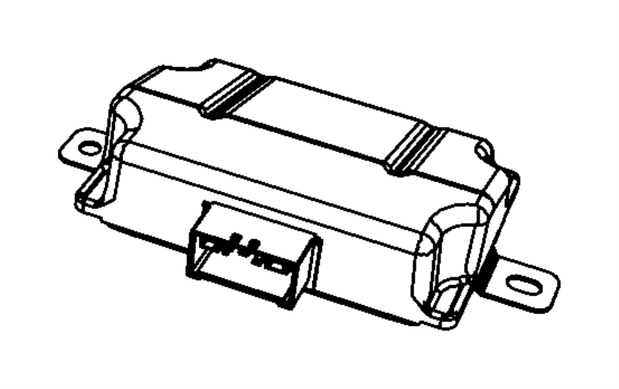 2013 Jeep Wrangler Module. Voltage converter. [instrument