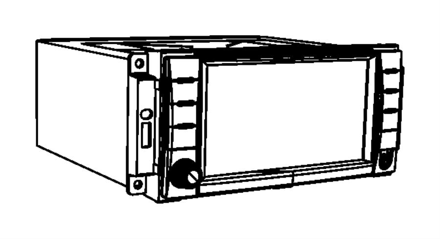 Jeep Wrangler Radio. Am/fm/dvd/hdd/nav/sdars. Euro, panel