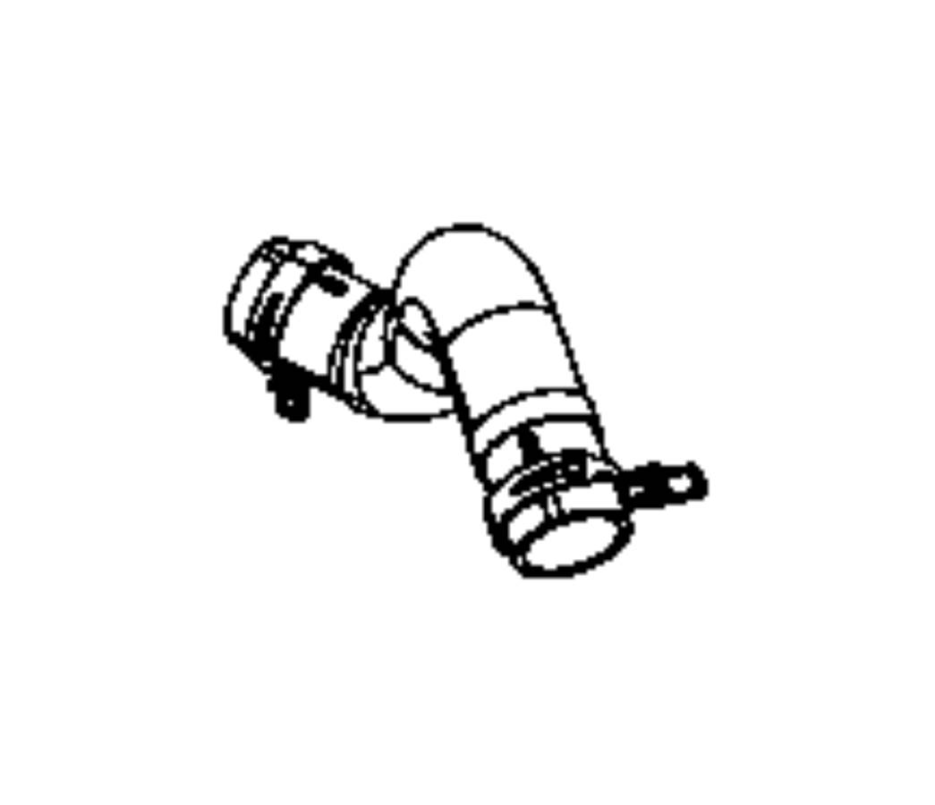 2012 Jeep Liberty Hose. Radiator outlet. Engine, related