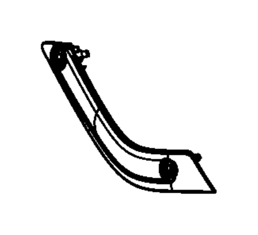 Jeep Wrangler Bezel. Grab handle, release handle. Right