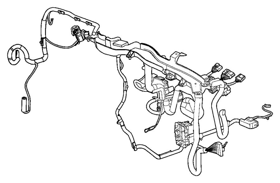 Jeep Compass Wiring. Instrument panel. Close, center, door